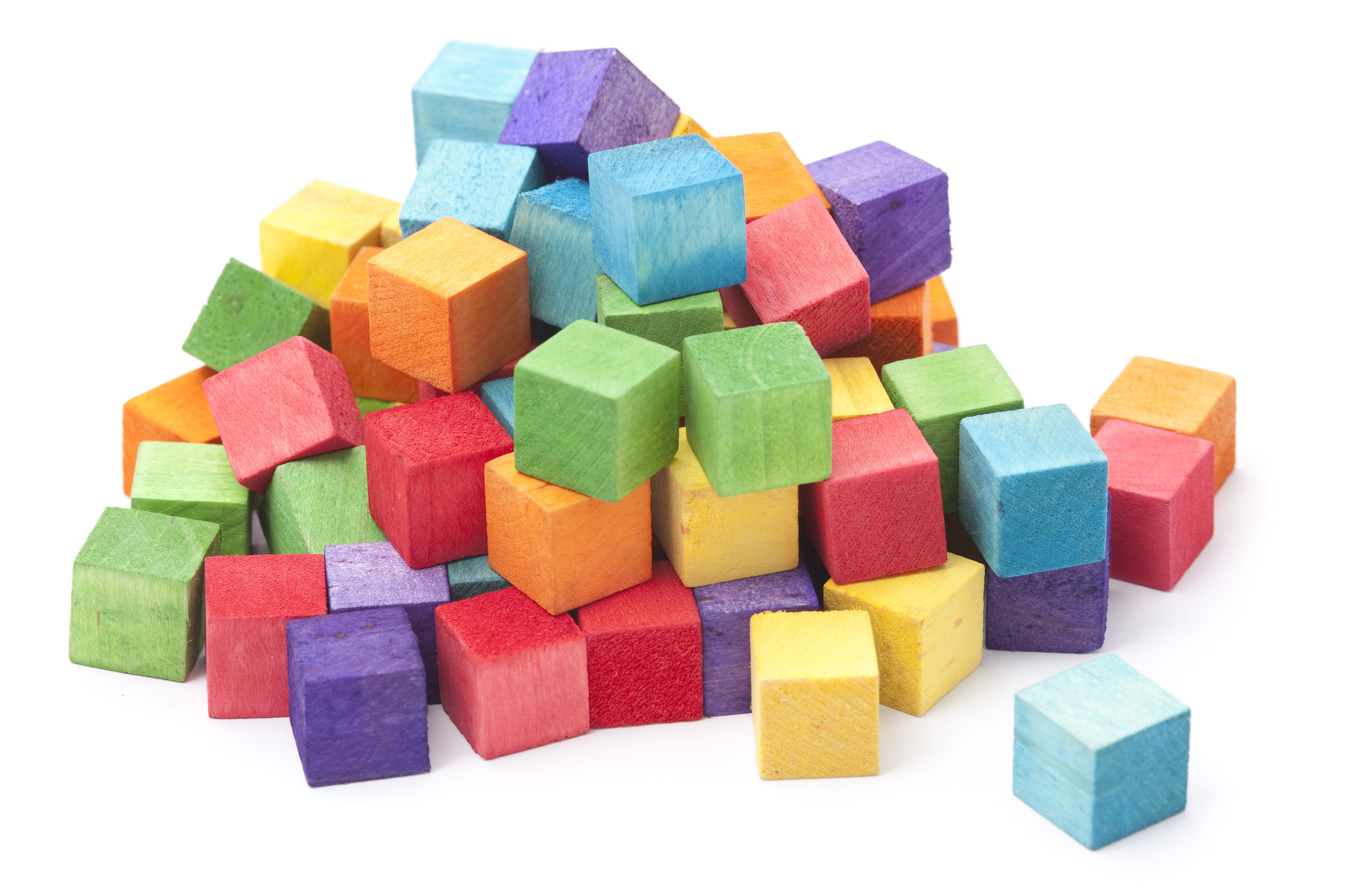 Colored Building Blocks For Age