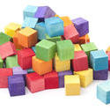 11960   Heap of colorful wooden kids building blocks