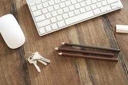 11886   Pencils and Keys on Desk