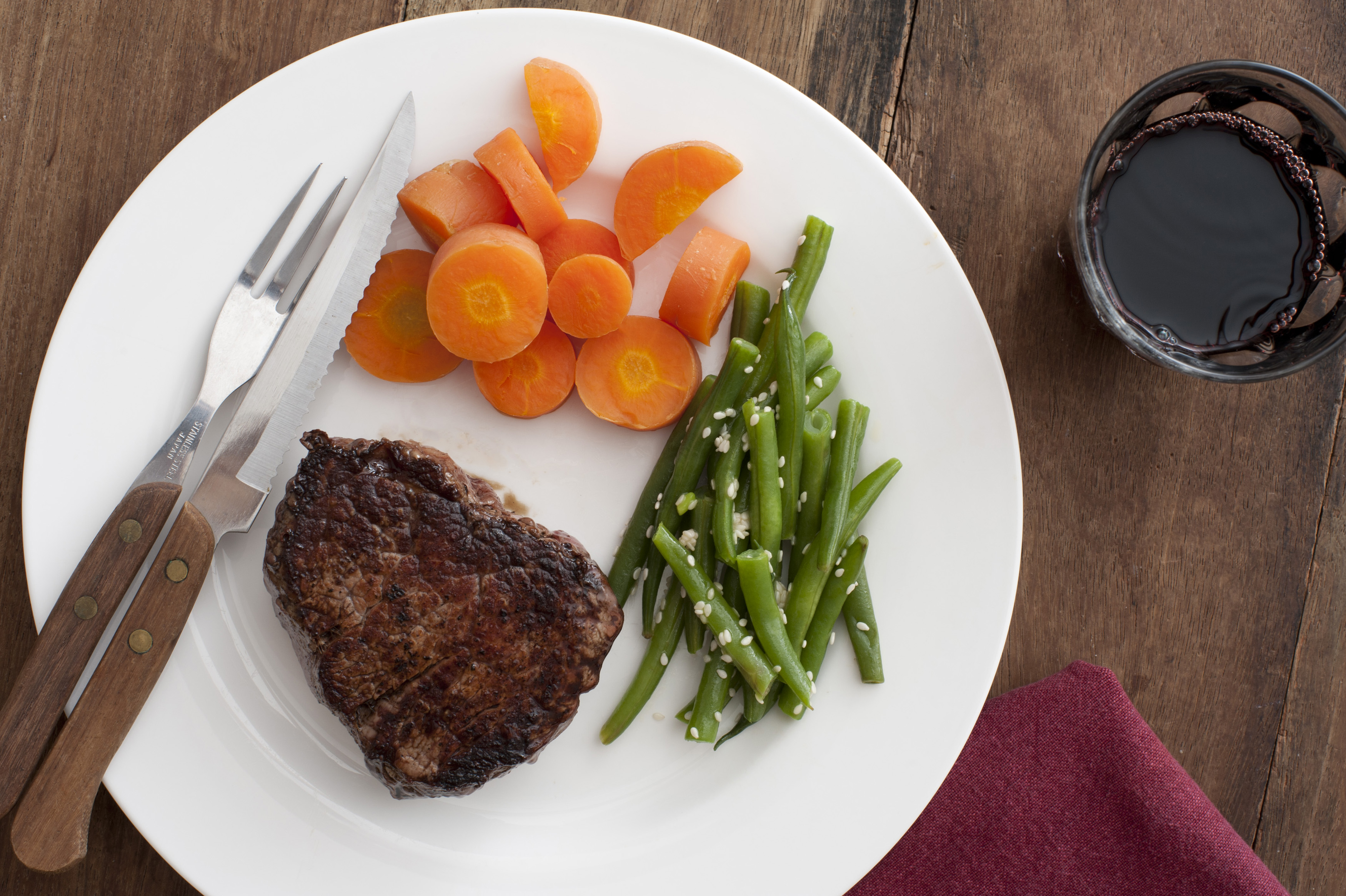 Free Stock Photo 12292 Fiillet Steak With Vegetables