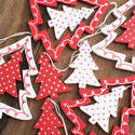 13148   Colorful red polka dot Christmas tree decorations