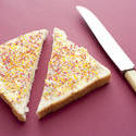 stock image 12755   fairybread cut in half with knife