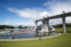 12897   Scenic view of the Falkirk Wheel, Scotland