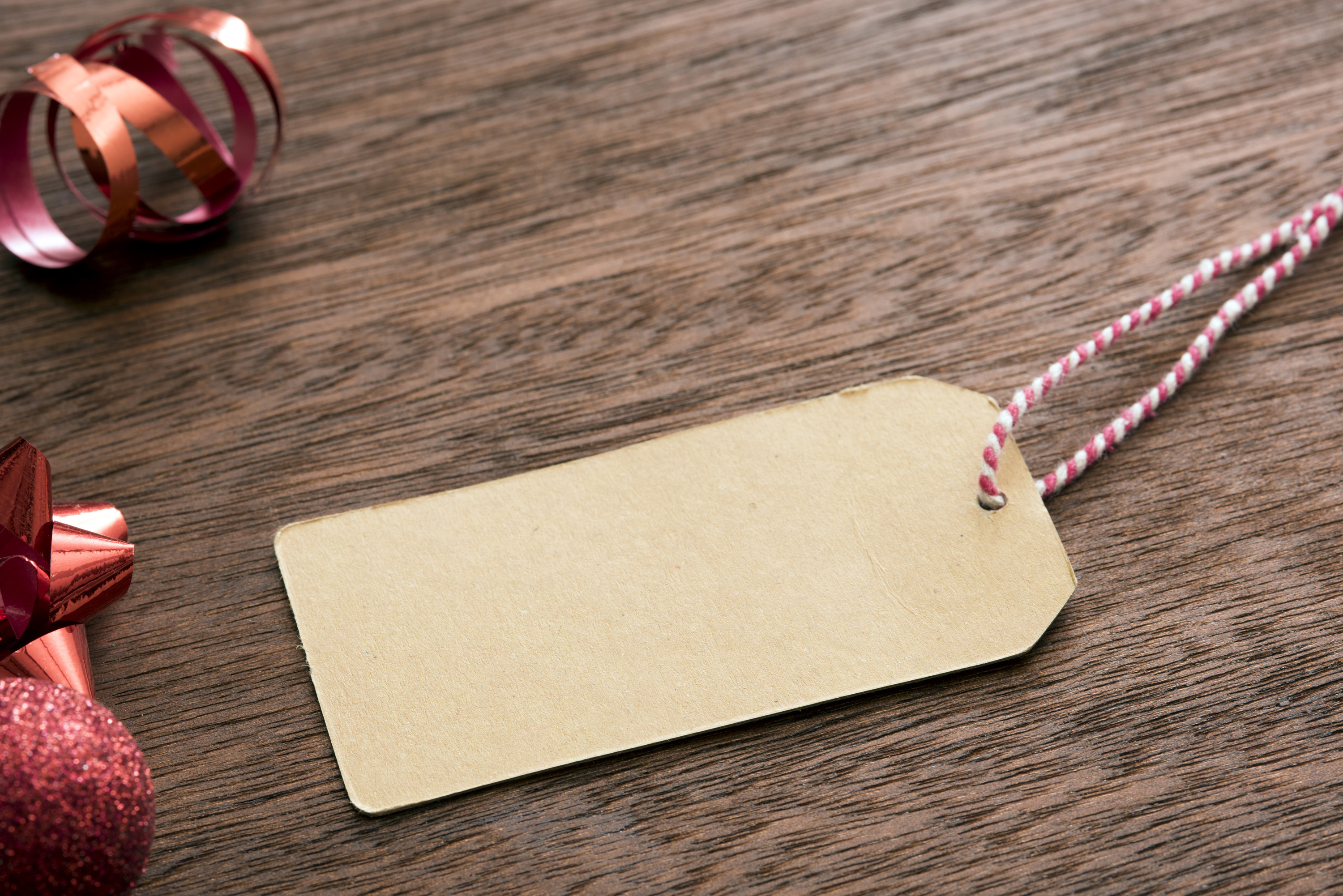 free stock photo 13151 blank christmas gift tag and
