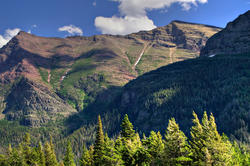 12224   Glacier National Park Mountain Ridge