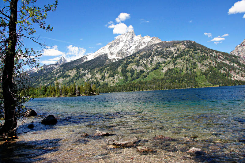 <p>This is a view of Jenny Lake at Grand Teton National Park.</p>