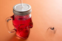 12782   Red drink in glass shaped skull