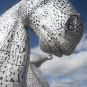12815   Close up view of one of the Kelpies