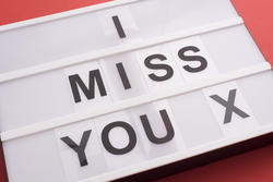 13494   I Miss You X message