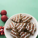 13157   Iced gingerbread Xmas tree cookies