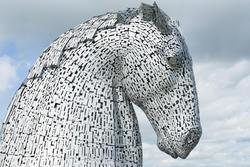 12852   Profile of one of the Kelpies, Falkirk, Scotland