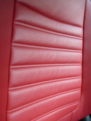 16333   Red leather car seat texture