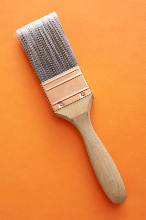 12177   Single large wooden paintbrush