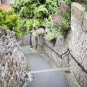 12859   Winding footpath in Pittenweem, Scotland