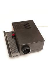 13726   Old slide projector on white