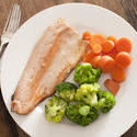 12361   rainbow trout and steamed vegetables