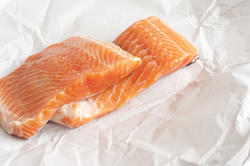 12363   raw salmon in paper
