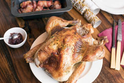 17172   Roast Christmas turkey with accompaniments