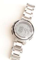 11891   Mans wrist watch with metal bracelet strap