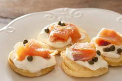 12364   salmon caper blinis on plate