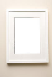 13110   Simple empty white picture frame