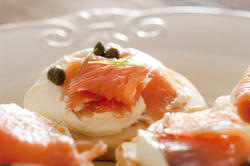 12367   Smoked salmon and capers on cream cheese