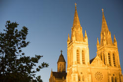 17010   The Gothic spires of St Peters Cathedral, Adelaide