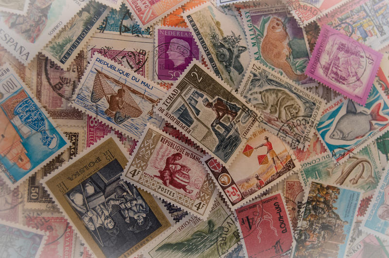 <p>Old&nbsp; postal stamps - editorial use only</p>