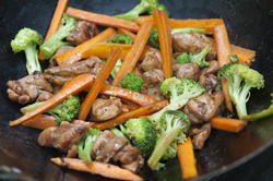 13035   Tasty Asian stir fry cooking in a wok