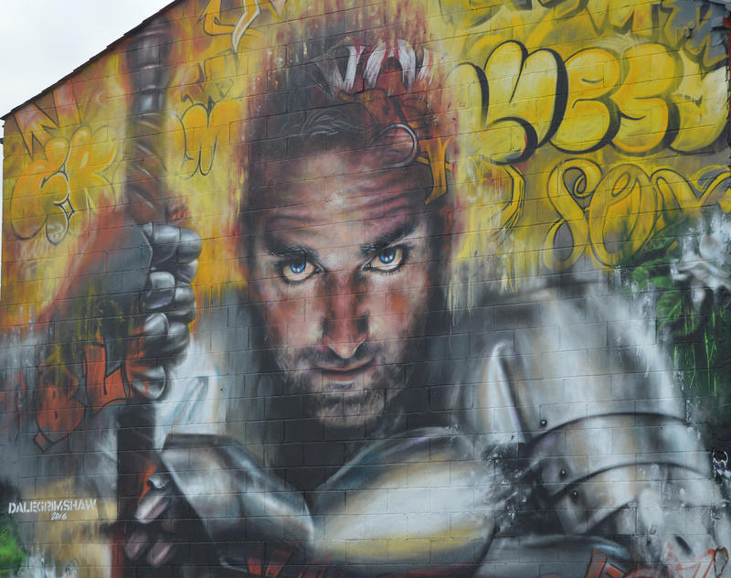 <p>Sand, Sea and Spray - Urban Art Festival in Blackpool</p>