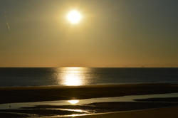17018   Free sunset photo showing Cleveleys near to Blackpool in the UK.