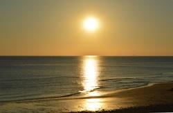 17016   Golden sunset   Free image