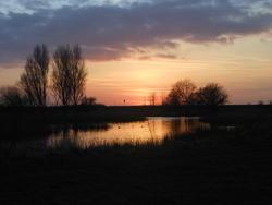 12557   sunset reflection