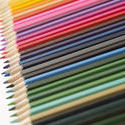 12203   Colorful Pencil Crayons on White Background
