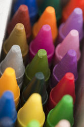 11984   Close up of new crayon tips