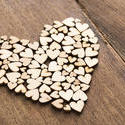 13512   Craft wooden hearts