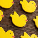 13491   Yellow wooden Easter chicks