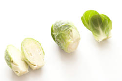 17221   Heads of Brussels sprouts on white