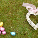 stock image 17342   Easter egg hunt and love concept