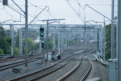 17396   Empty railway lines with green signal