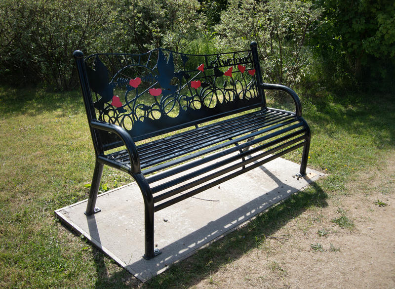 <p>Bench at Fylde Memorial Arboretum &amp; Community Woodland</p>