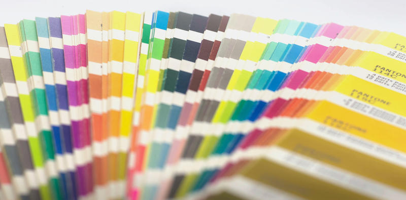 <p>A pantone colour chart - Editorial Use Only</p>