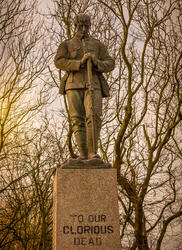 17567   World War One and Two Memorial at Four Lane Ends in Thornton Cleveleys, Lancashire, UK