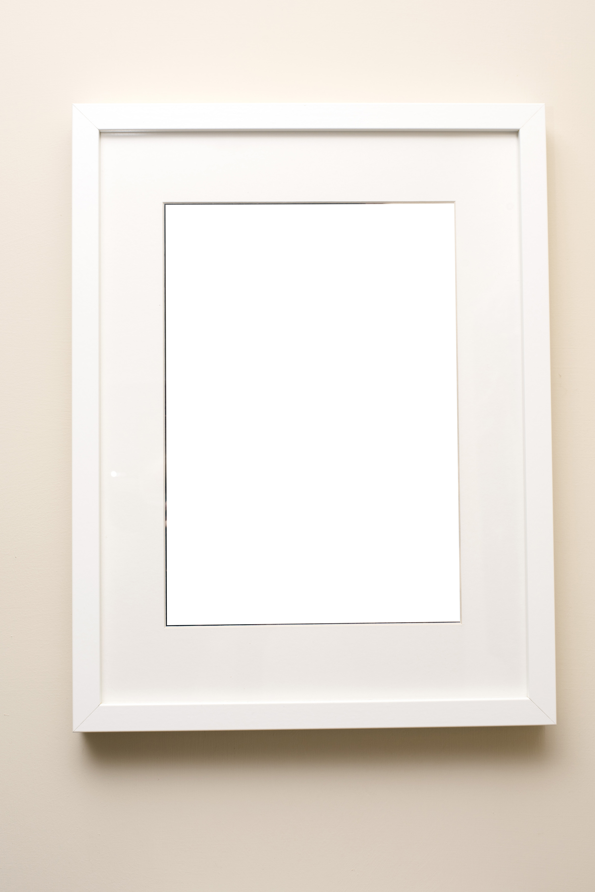 Free Stock Photo 13110 Simple empty white picture frame | freeimageslive
