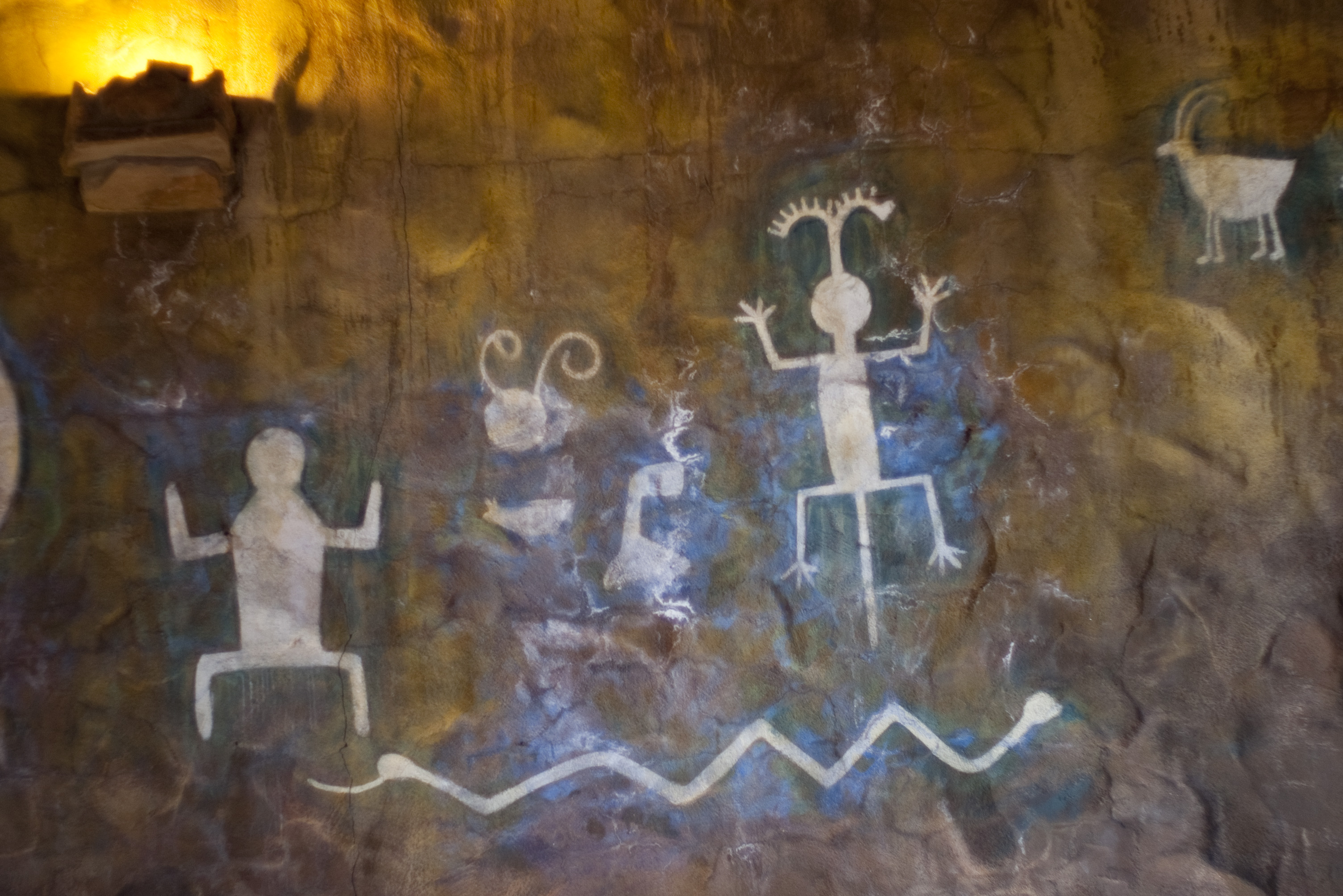 Wonderful Native Murals In The Desert View Watchtower Painted By Fred Kabotie Part 26