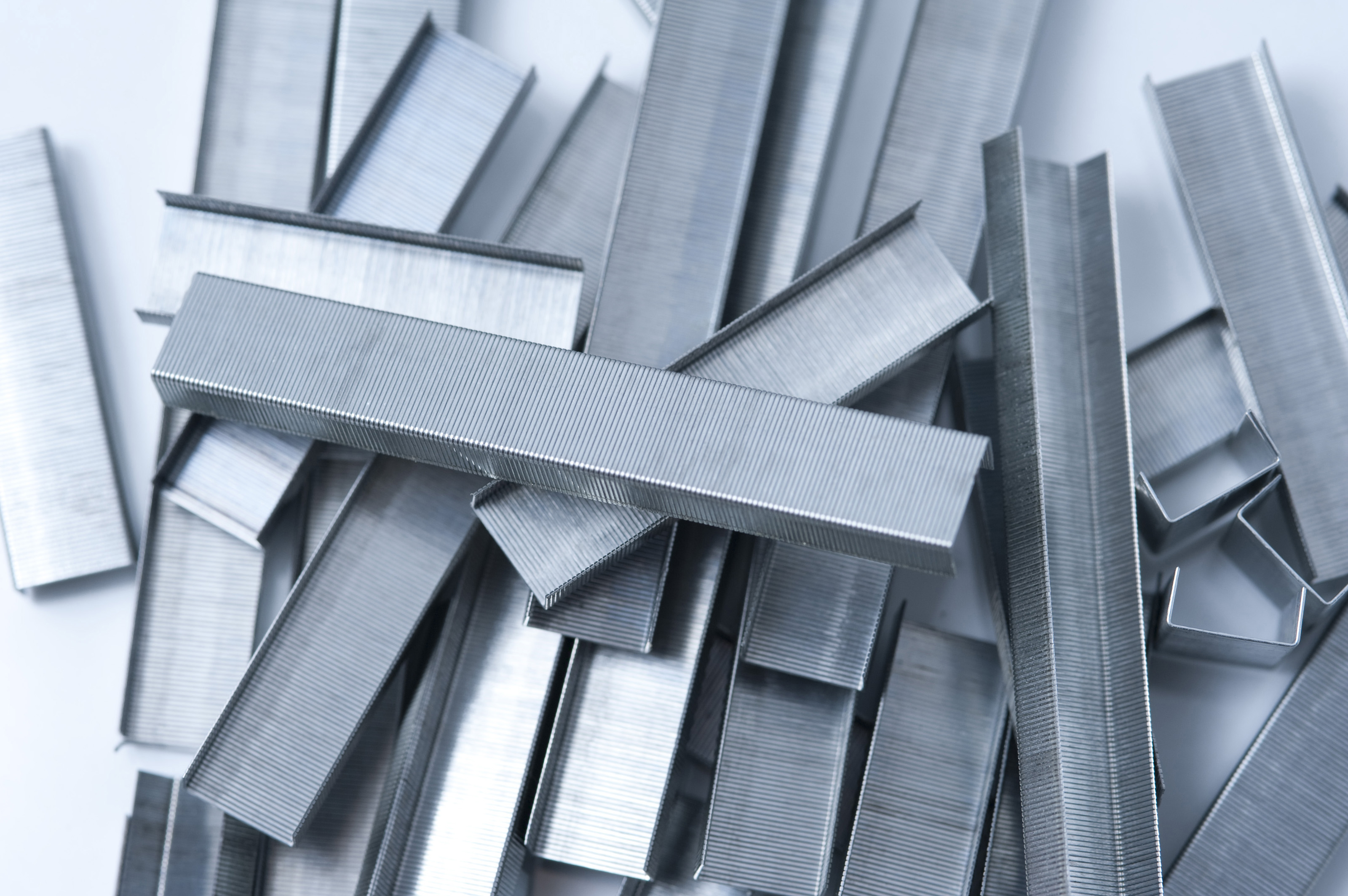 Free Stock Photo 5317 Random arrangement of metal staples ...