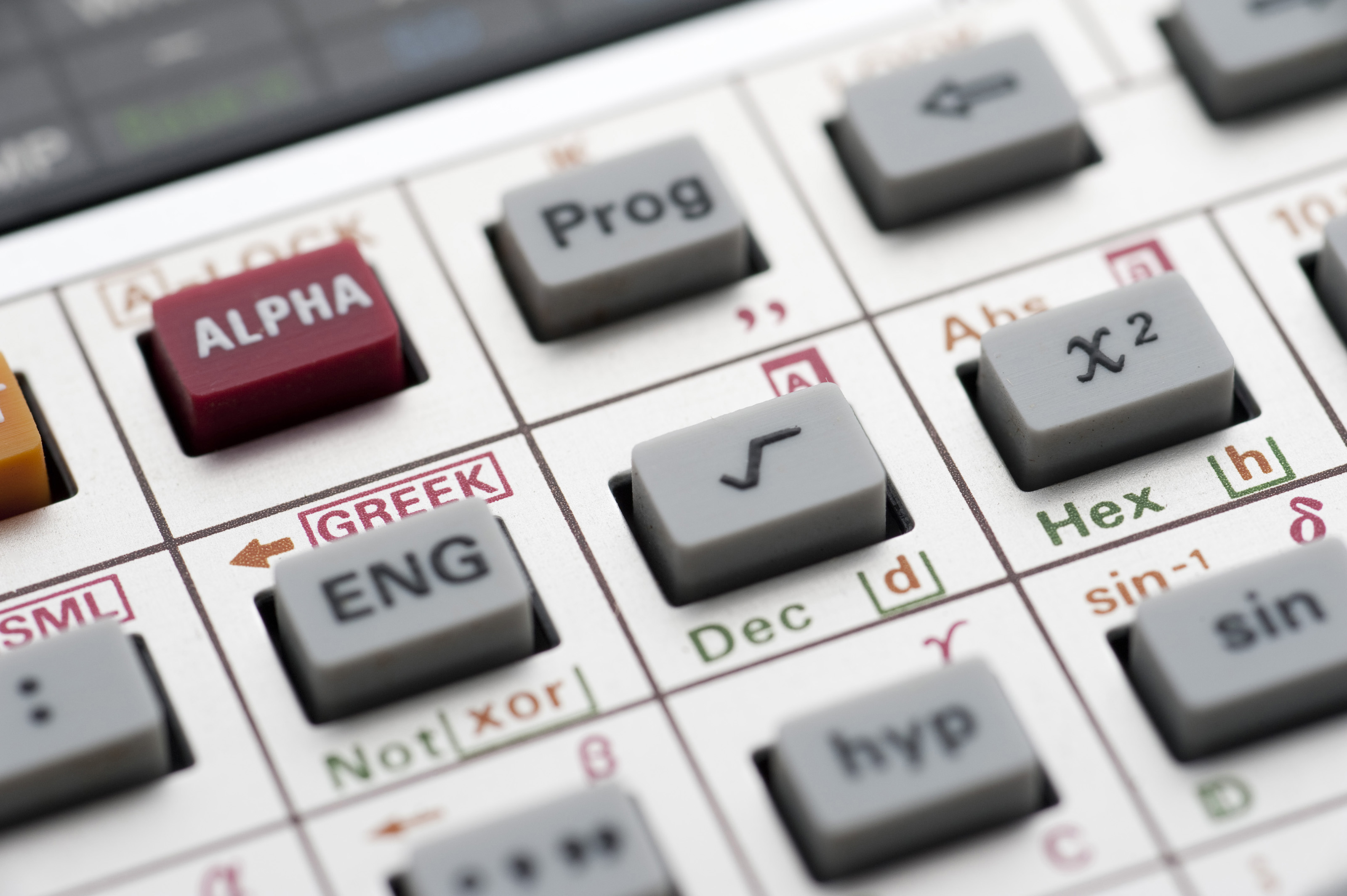 Free stock photo 5373 square root symbol freeimageslive selective focus to the square root symbol on the keypad of a complex mathematical calculator buycottarizona Images