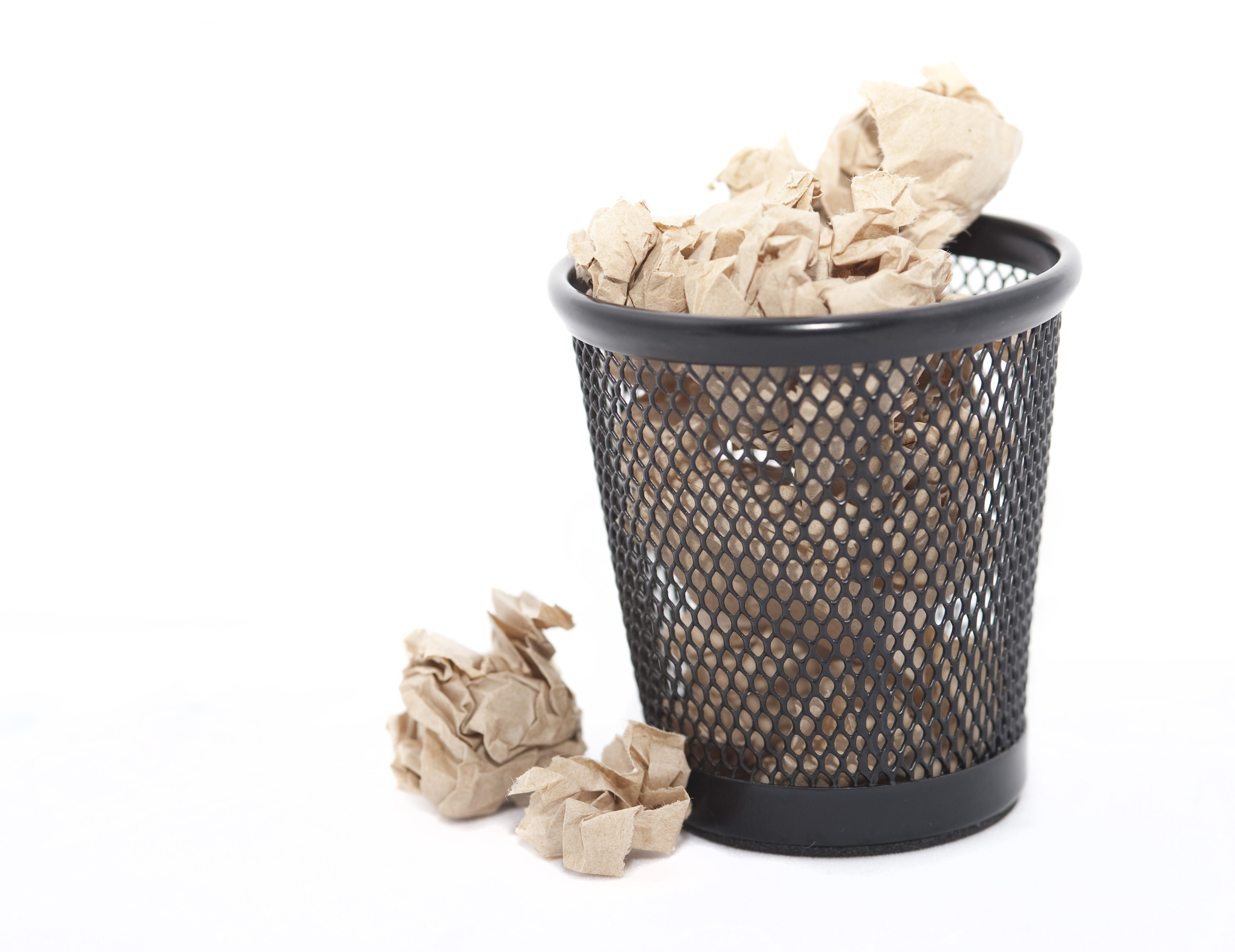 Waste Paper Basket Free Stock Photo 5399 Waste Paper In A Bin  Freeimageslive