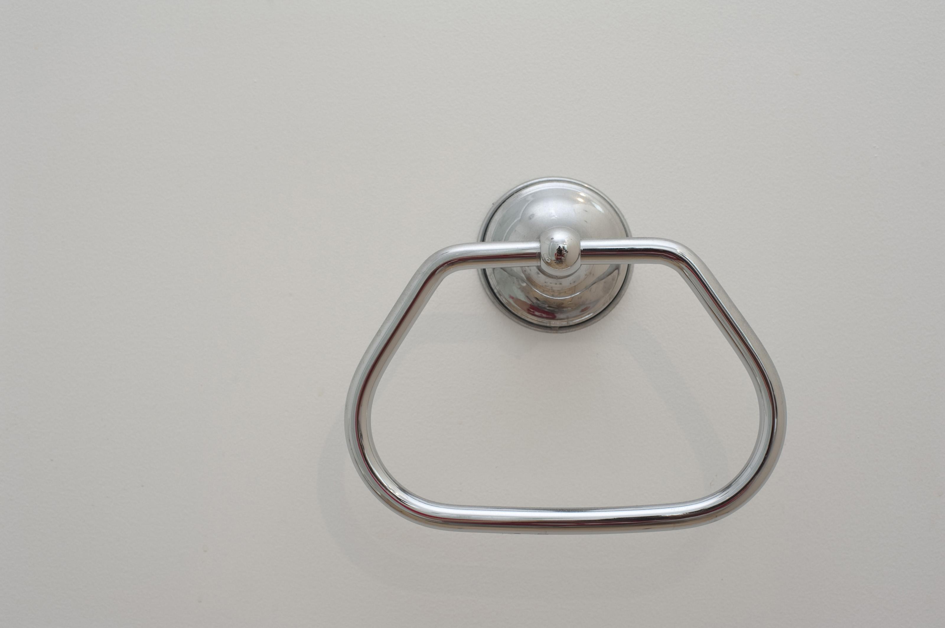 Towel Hanger Free Stock Photo 6916 Simple Stainless Steel Towel Hanger