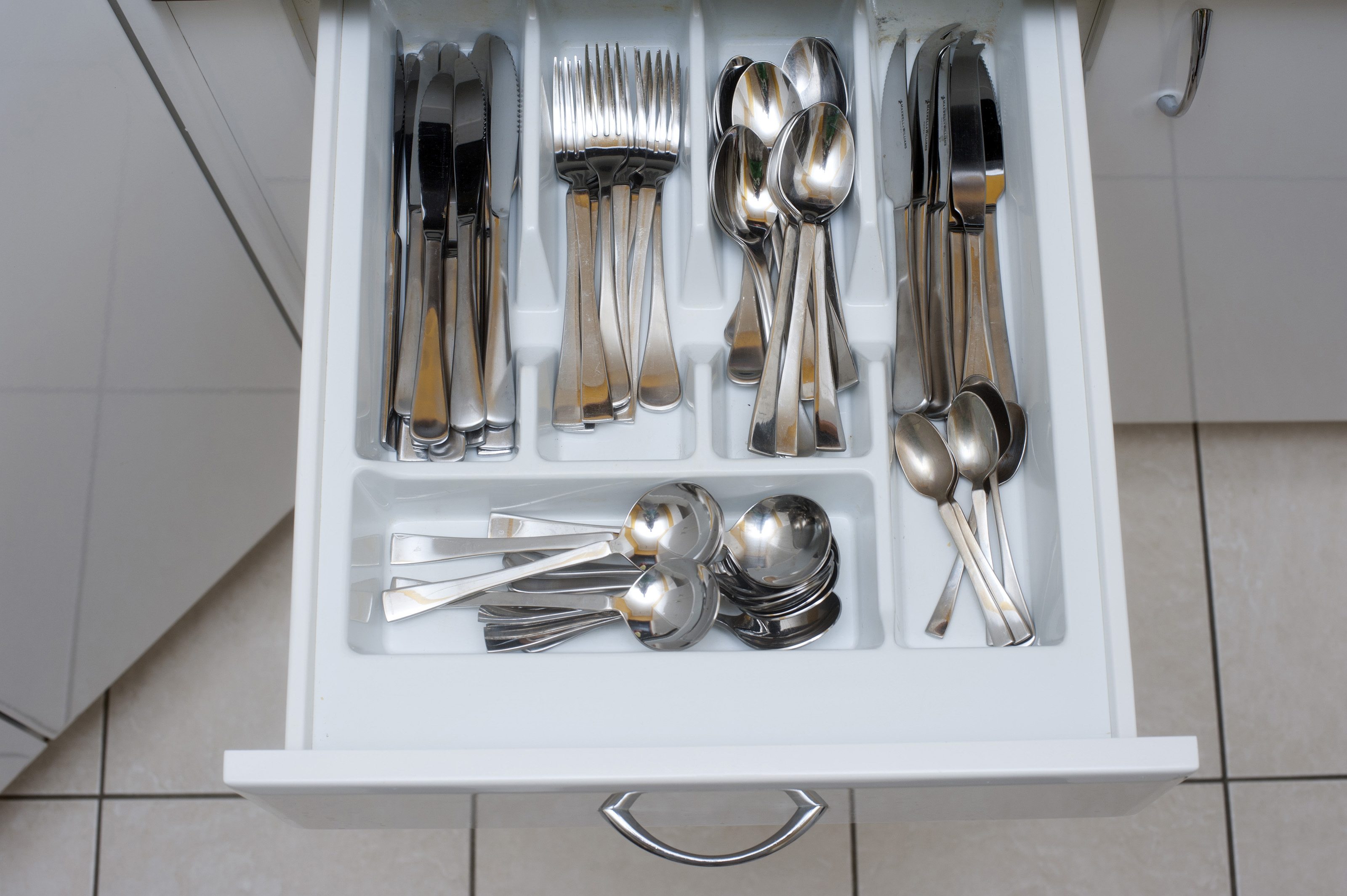 Kitchen Drawers Free Stock Photo 8142 Cutlery In An Open Kitchen Drawer